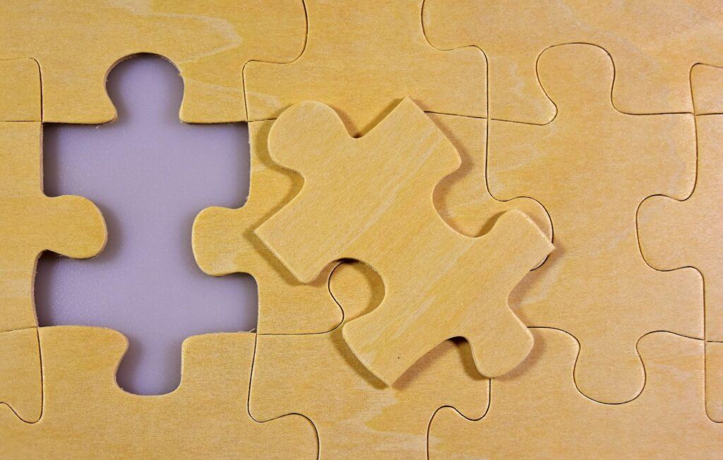 puzzle, last part, wood